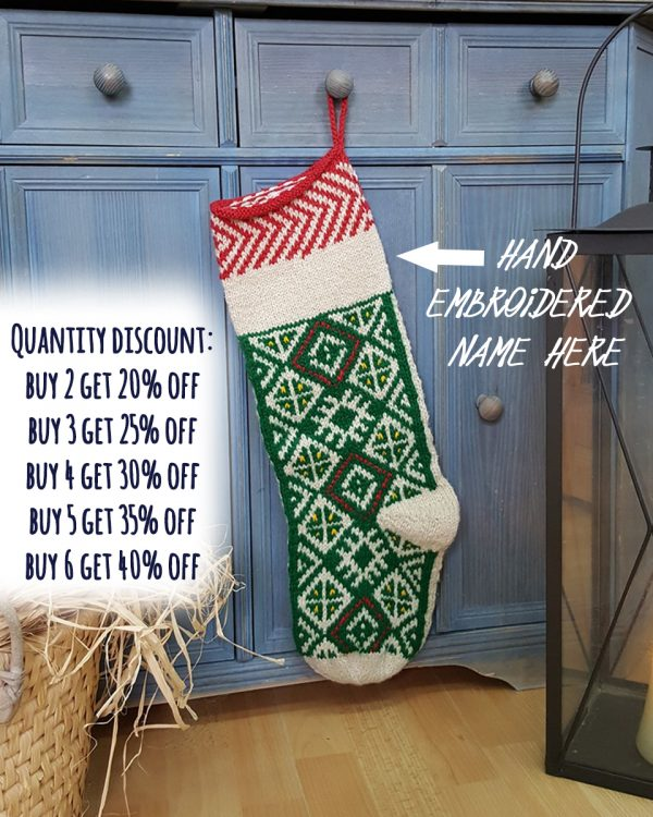 Green Christmas Stocking - Personalizable