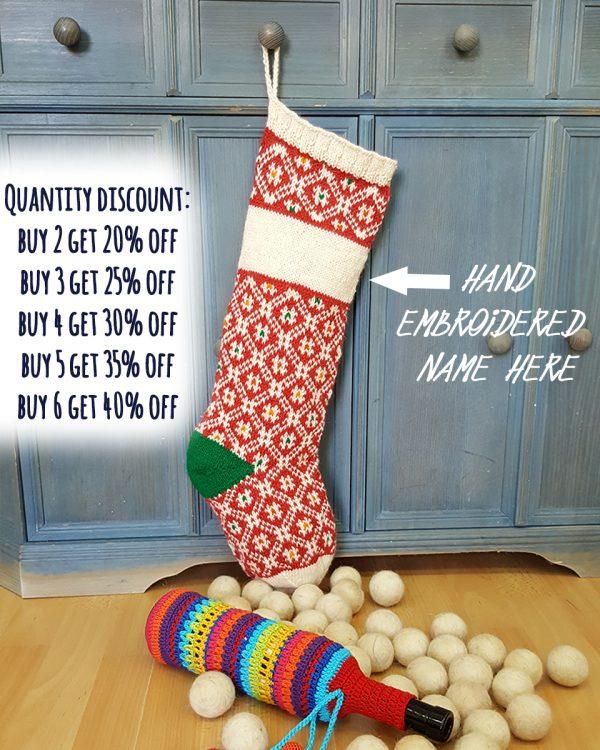 Christmas Stockings Red White