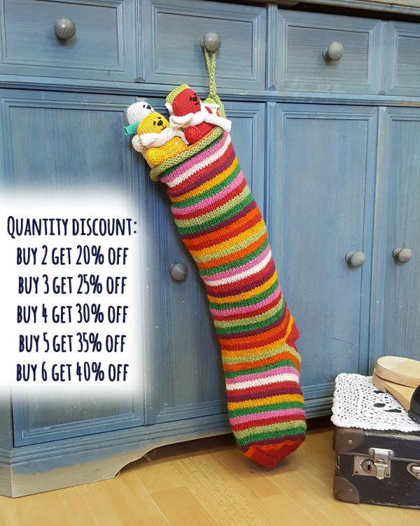 Stripped Christmas Stockings