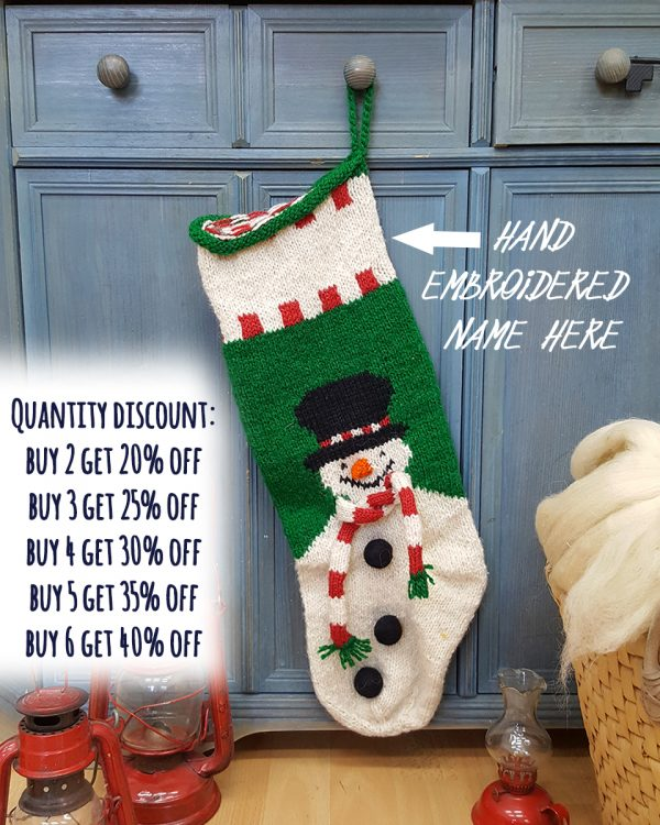 Christmas Stockings with Snowmen