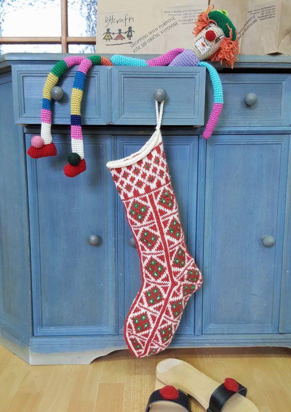Jacquard Knit Christmas Stocking