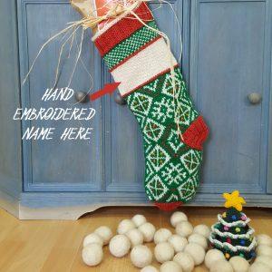 Christmas Stocking Traditional Pattern