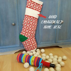 Christmas Stockings Red White