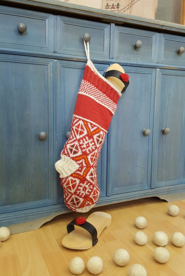 Red and White Christmas Stocking Personalizable