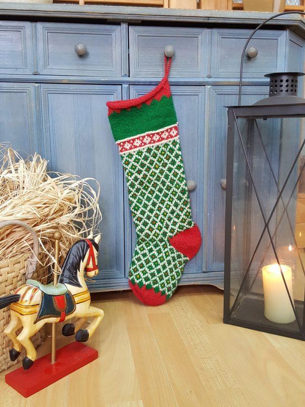 Christmas Stockings Green White