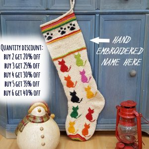 Personalizable Christmas Stocking for Cats