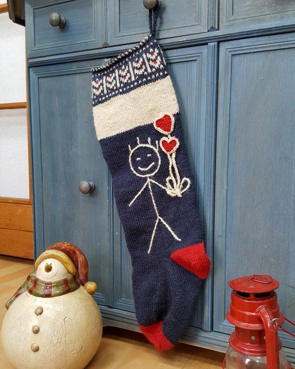 Christmas Stocking with Stickman