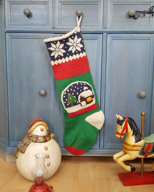 Christmas Stockings with Snowball