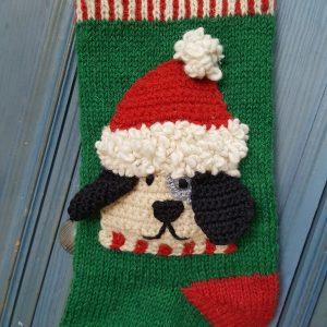 Christmas stocking with dog