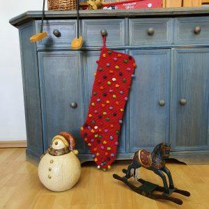 Red Crochet Christmas Stocking
