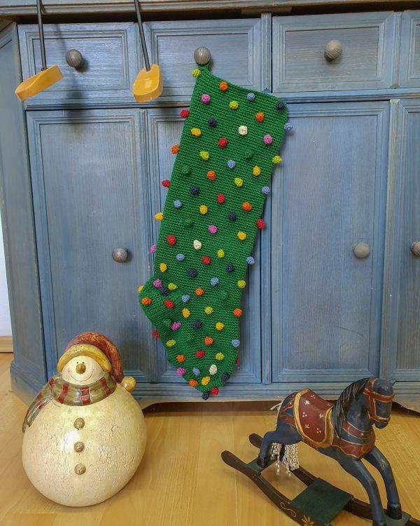 Green Crochet Christmas Stockings