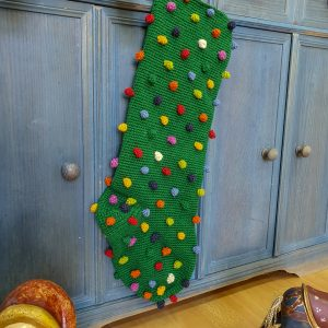 Green Crochet Christmas Stockings