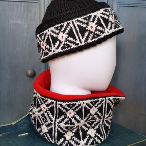 traditional pattern knit beanie