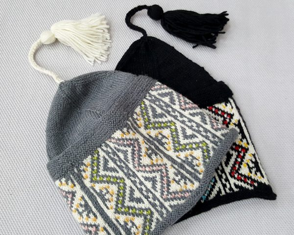 traditional pattern beanie