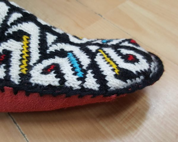 Traditional Slipper Socks with Leather