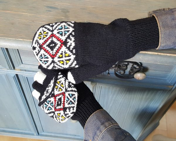 Fingerless Gloves with Flaps