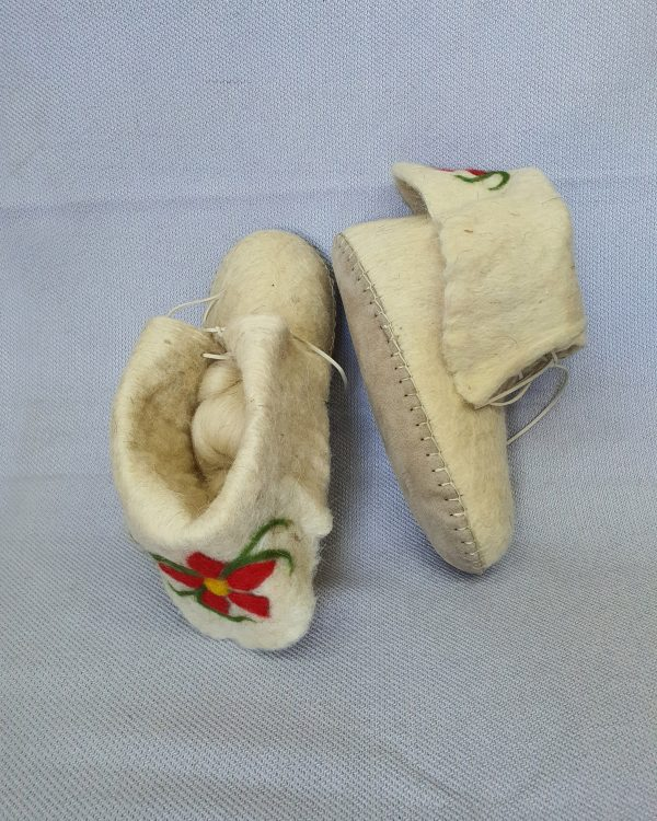 Felted Slipper Socks with Leather Sole
