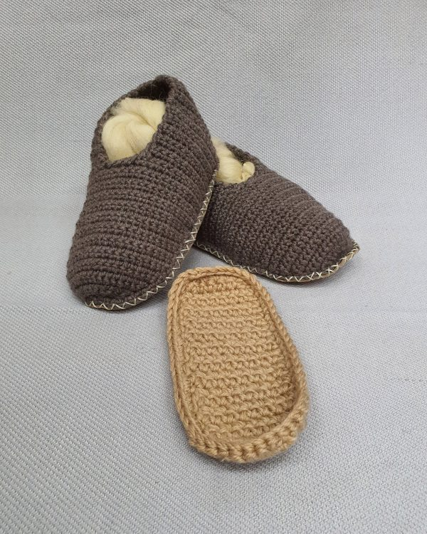 Slipper Socks with Leather Sole