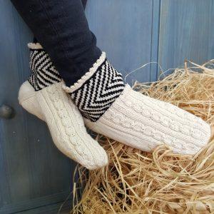 White Slipper Socks