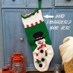 Personalizable Christmas Stockings with Snowmen