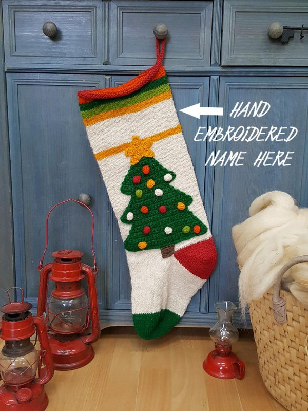 Christmas Stocking With Christmas Tree