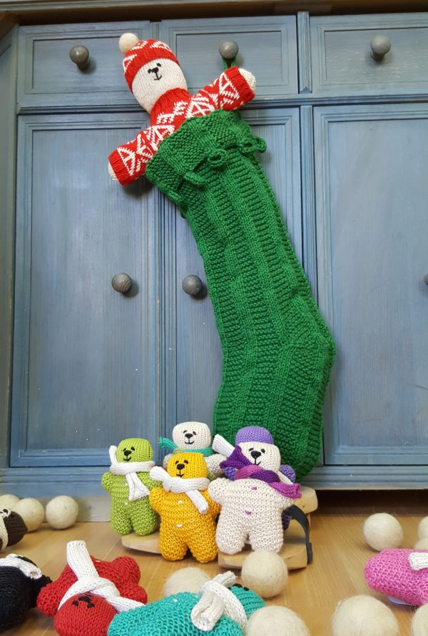 Green Christmas Stocking