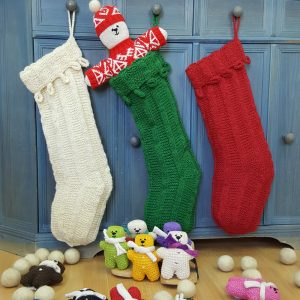 Christmas stocking with loops