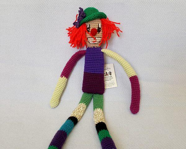 amigurumi stuffed clown doll