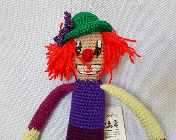 amigurumi clown toy