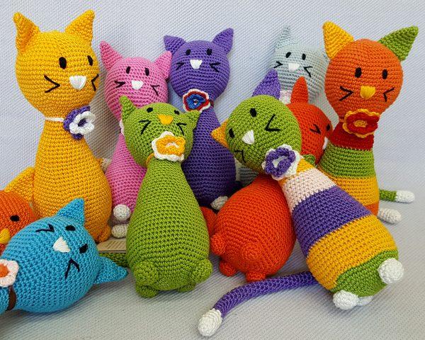 crochet cat toy