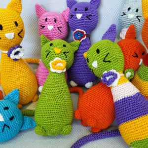 amigurumi cat toy