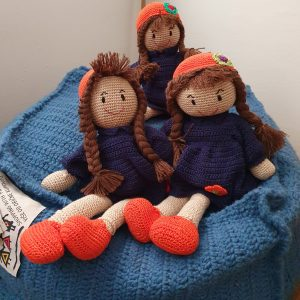 knitted stuffed dolls