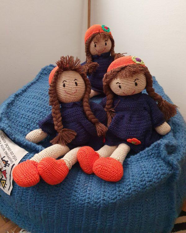 knitted stuffed dolls