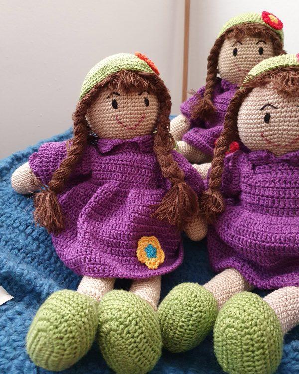 stuffed knit doll