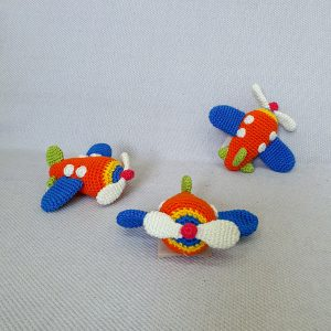crochet airplanes toy