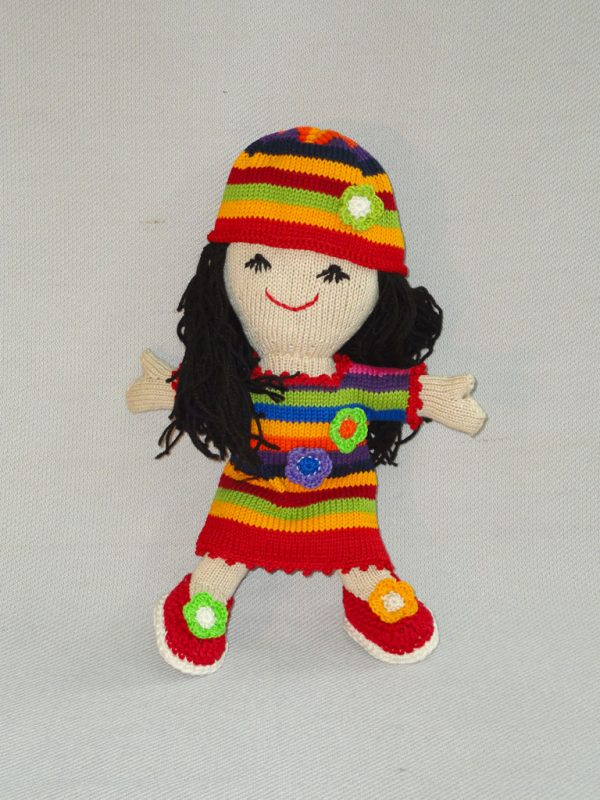 Colorful Knit Doll