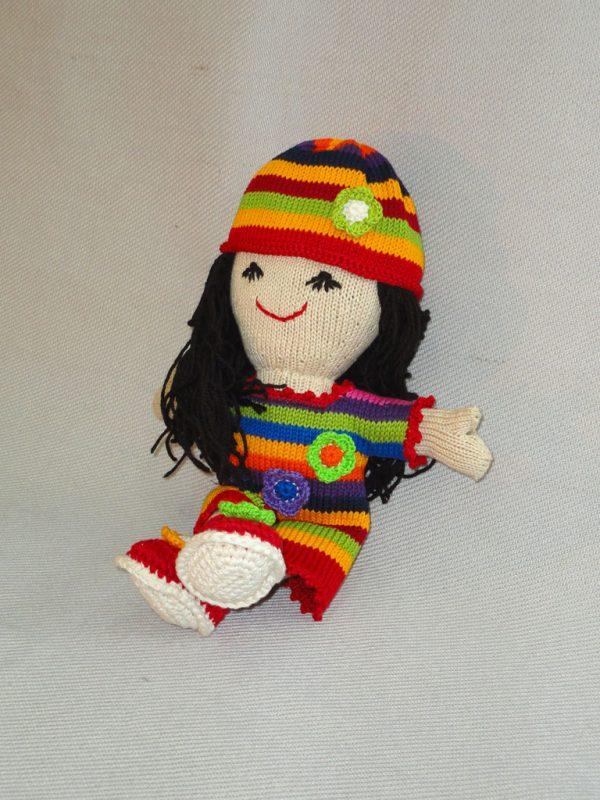 Knit Rainbow Doll