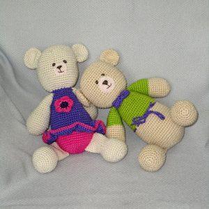 purple Crochet Teddy Bear