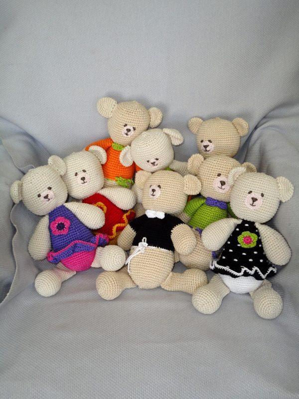 colorful teddy bear toys