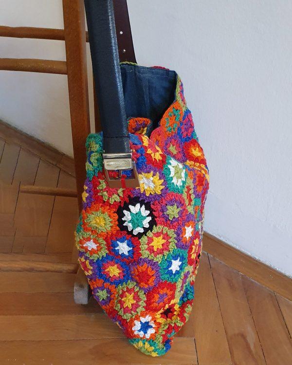 Crochet Patchwork Shoulder Bag