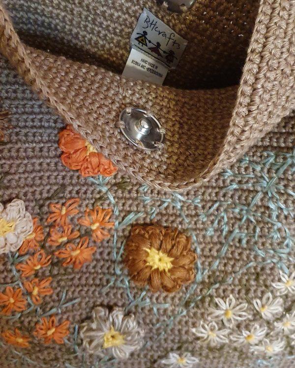 Unique Crochet Shoulder Bag