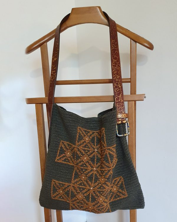 Crochet Bag with Hand Embroidery