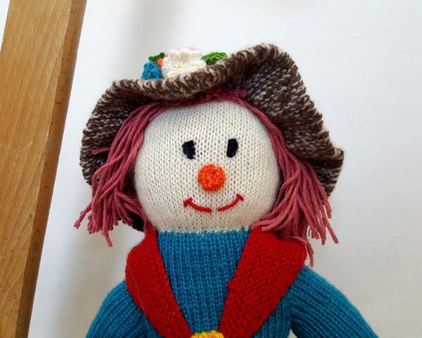 handmade crochet toy doll