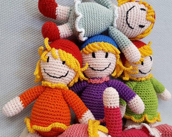 orange crochet doll