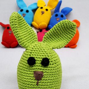 Green bunny rabbit soft toy