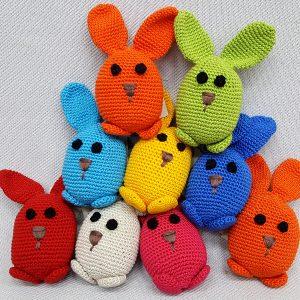 white crochet bunny rabbit toy