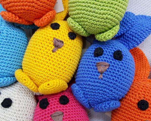 blue crochet bunny toy