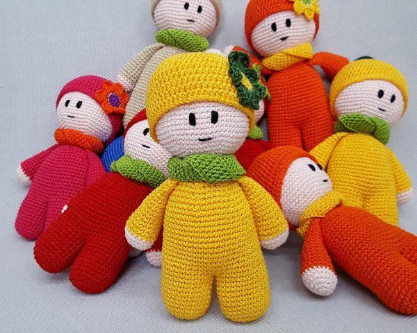 yellow crochet toy