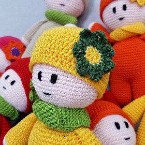 yellow stuffed doll
