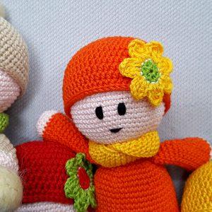 orange crochet toy